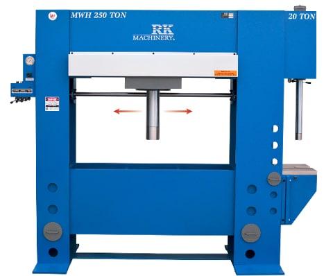 RK HFBP H-Frame Broach Press HFBP-250-20 MWH