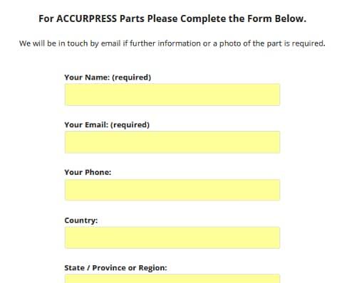 Accurpress Parts